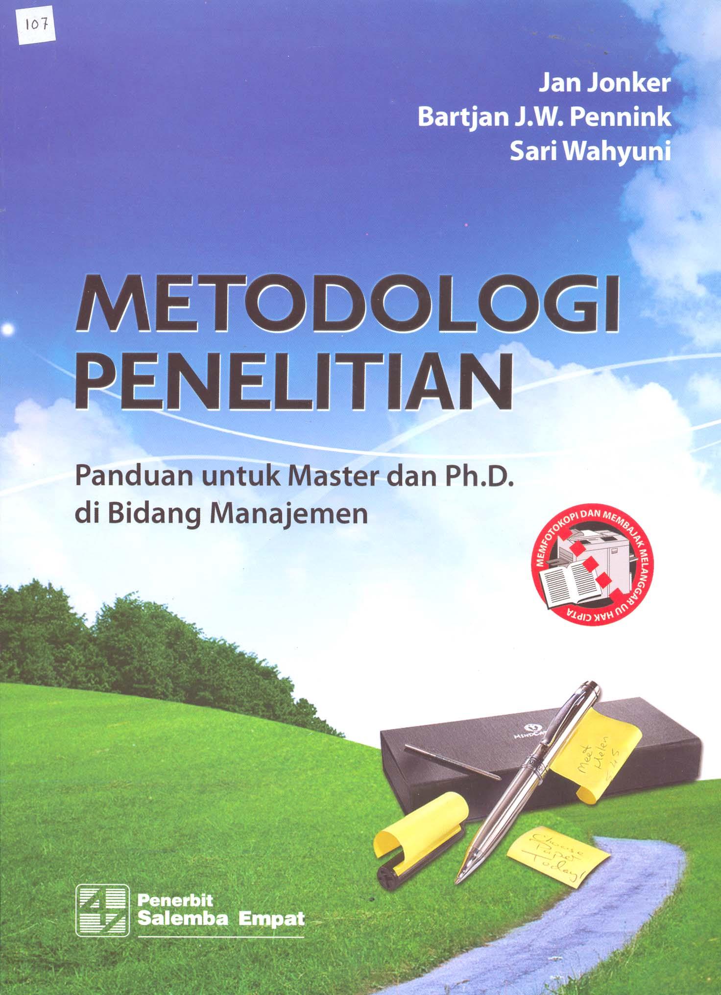 Buku Metodologi Penelitian Manajemen Masjid Mabris S Diary